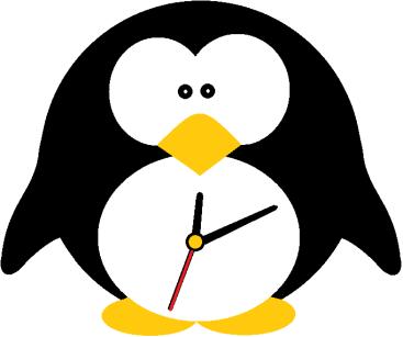 Pinguim relógio